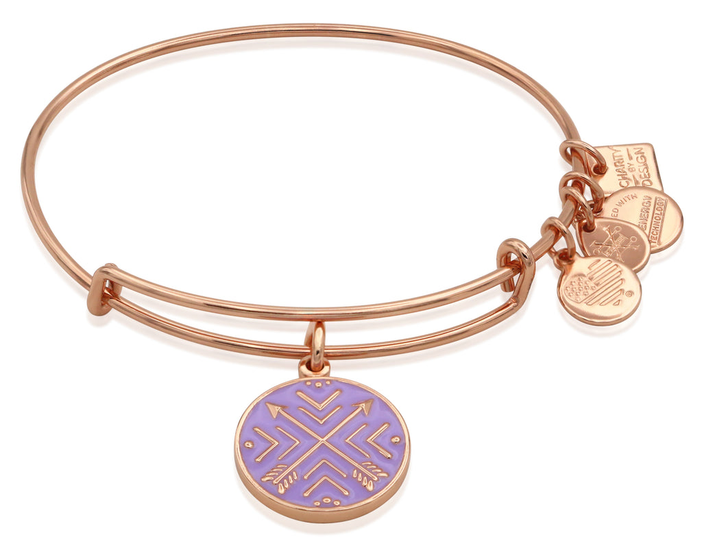 Alex and Ani WomensArrows of Friendship Charm Bangle Shiny Rose Gold