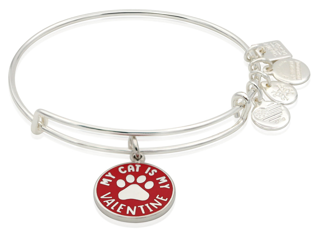 Alex And Ani My Cat Is My Valentine Bangle