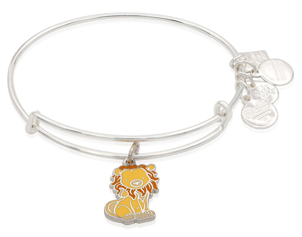 Alex and Ani Lion Charm Bangle Bracelet - Shiny Silver