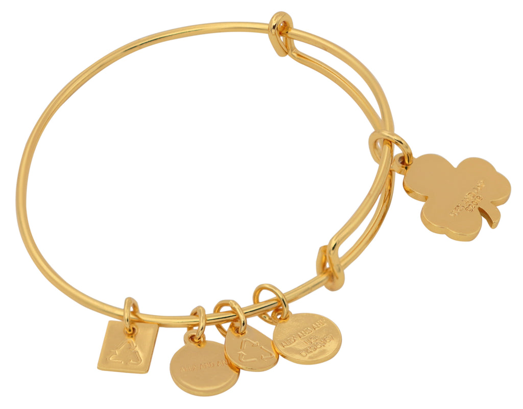 Alex And Ani Crystal Shamrock Bangle Bracelet