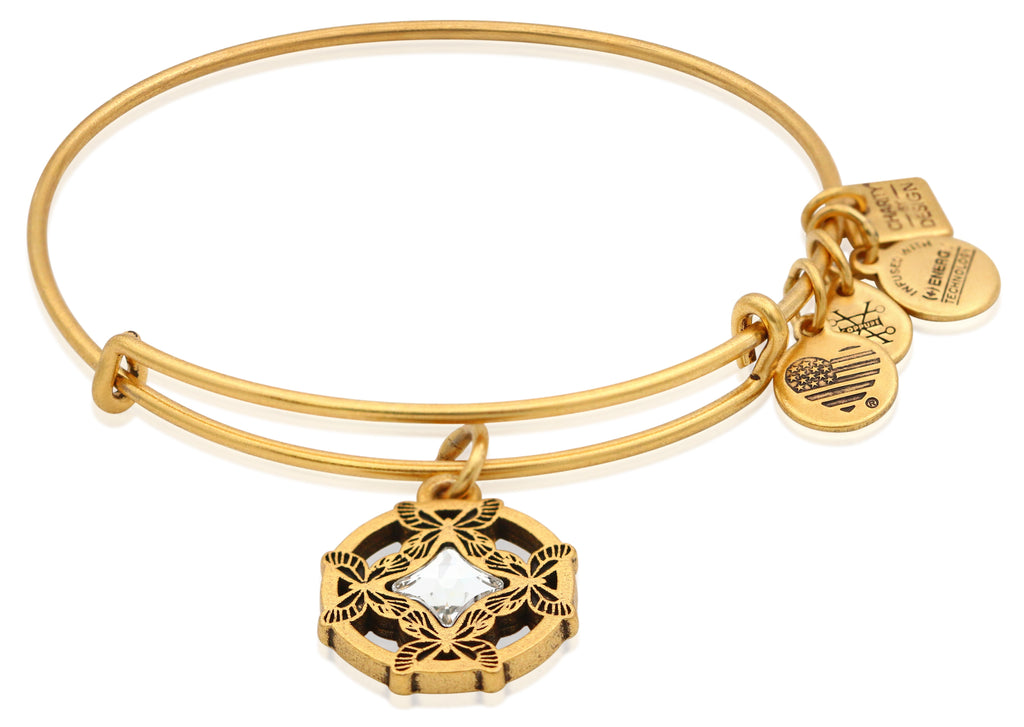 Alex and Ani Wings of Change Charm Bangle Bracelet - Rafaelian Gold