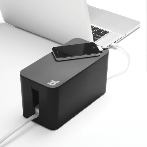 Bluelounge CableBox Mini Cable Management with Surge Protector - Black -