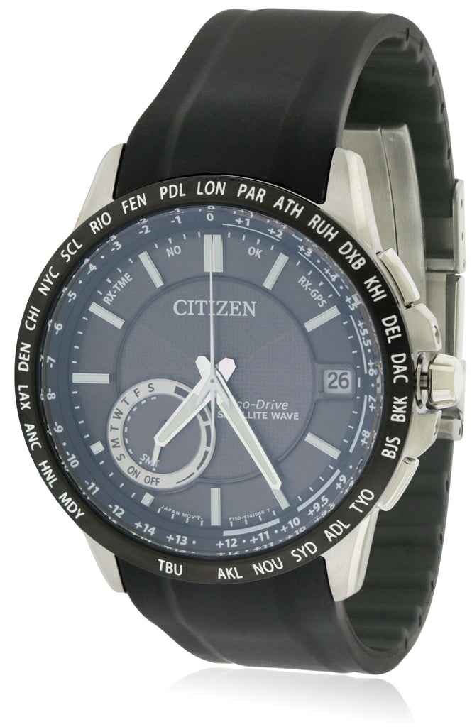 Citizen Eco-Drive Satellite Wave Silicone Mens Watch