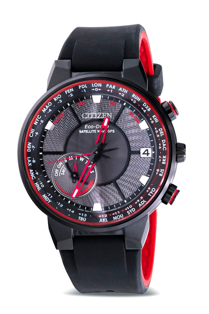 Citizen Eco-Drive Black Satellite Wave GPS Mens Watch