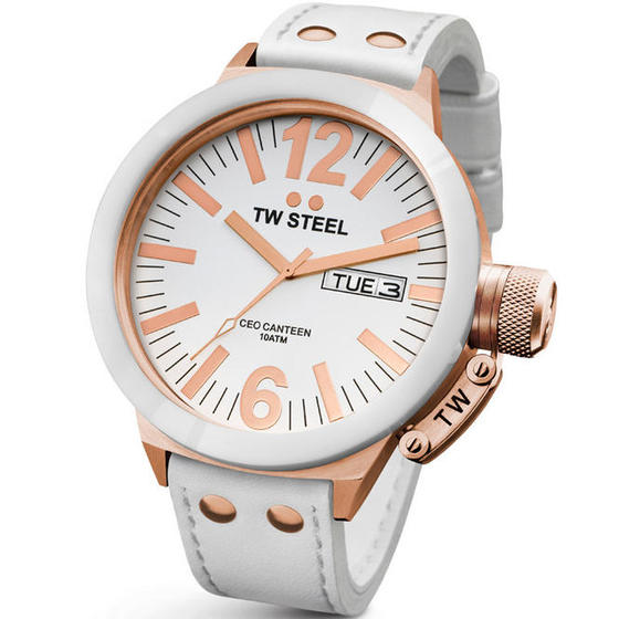 TW STEEL CEO Rose Gold Ceramic 50MM Mens Watch CE1036