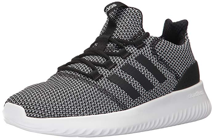 adidas Mens Cloudfoam Ultimate Running Shoes Black/White - 8.5 M