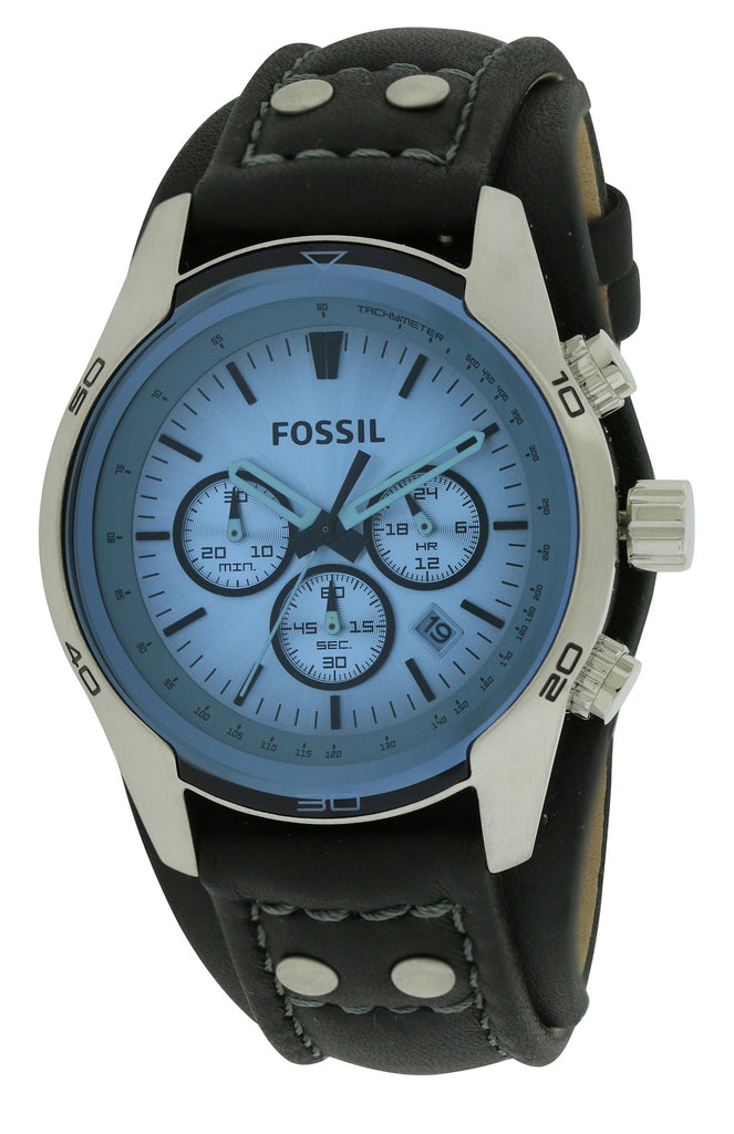 Fossil Sporty Leather Mens Watch