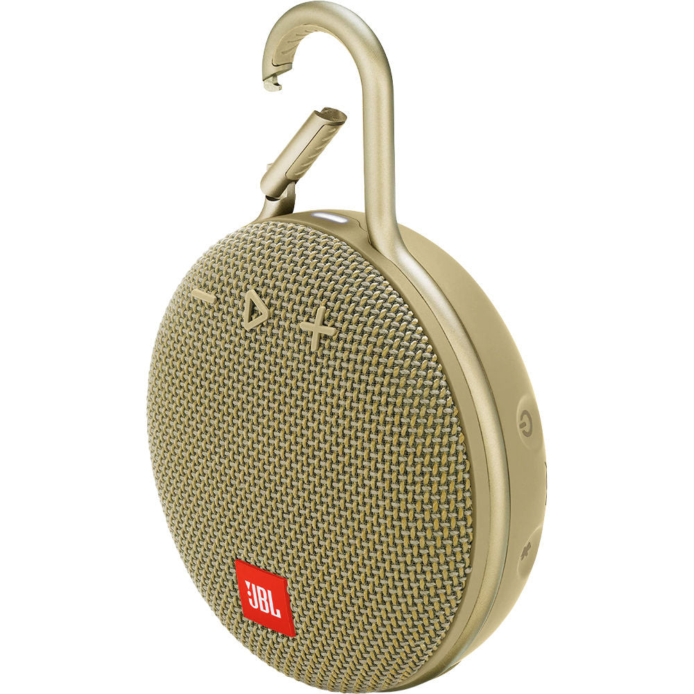 JBL Clip 3 Portable Waterproof Wireless Bluetooth Speaker - Sand -