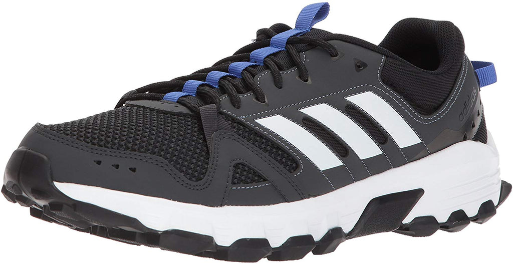 adidas Mens Rockadia Trail Running Shoe - Carbon/White/Hi-res Blue - Size 10