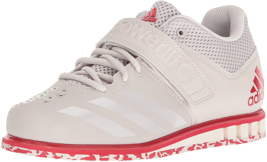 adidas Mens Powerlift 3.1 Cross Trainer Shoe - Chalk Pearl/Chalk Pearl/Scarlet - 9.5