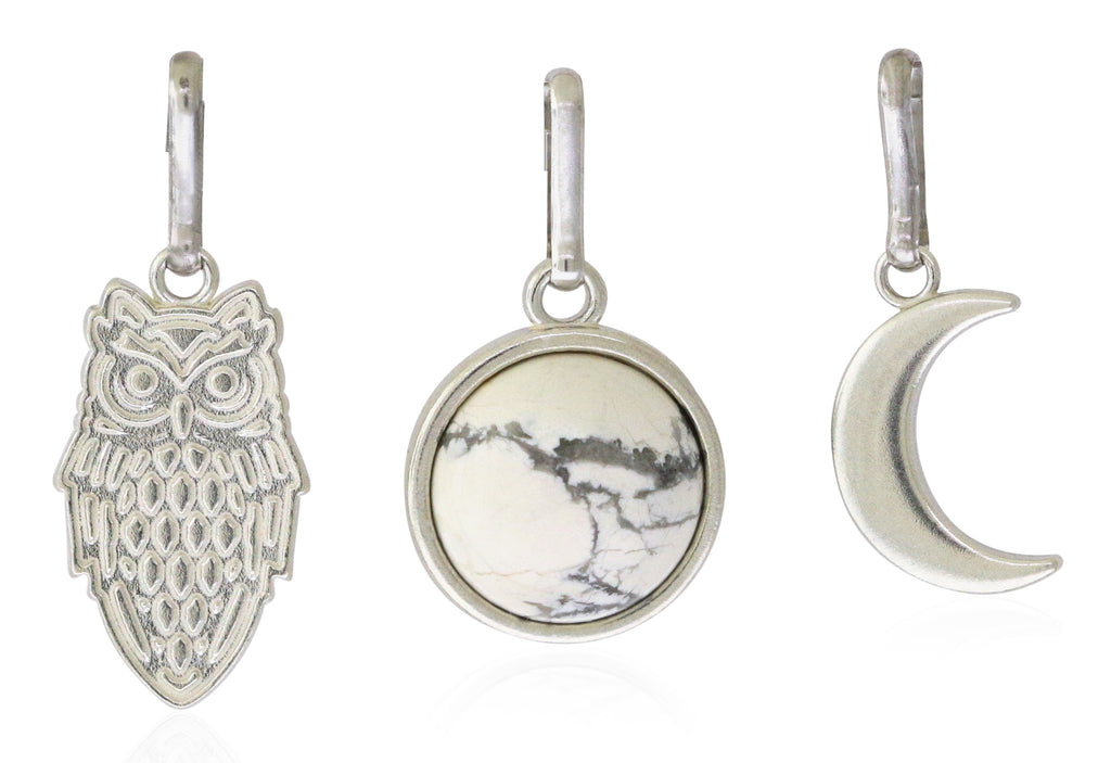 Alex And Ani Wisdom Charm Set - Sterling Silver  -