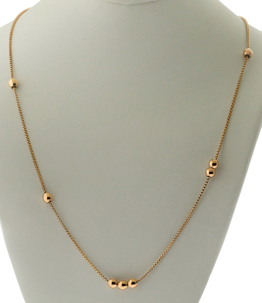 Alex And Ani 38 in. Expandable Chain Starter Necklace - 14KT Rose Gold Plated -
