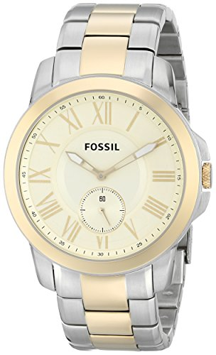 Fossil (Open Box) Grant Two-Tone Mens Watch FS5026