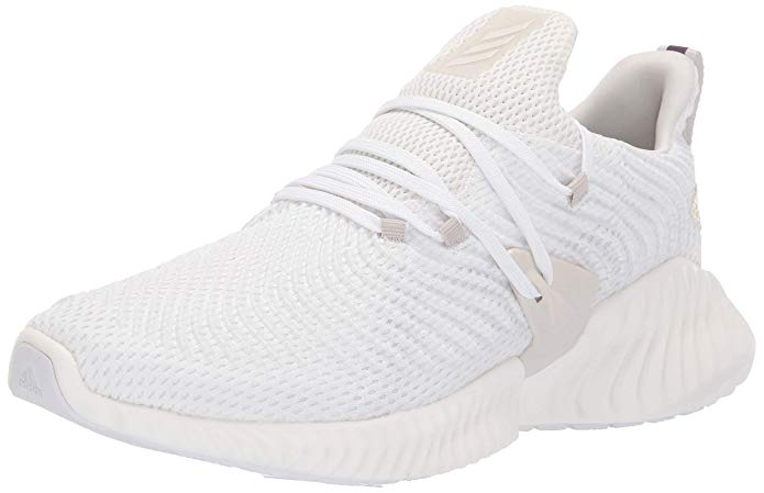 Adidas Mens Alphabounce Instinct Running Shoe - Off white/Raw white/Cloud white - Size 10.5
