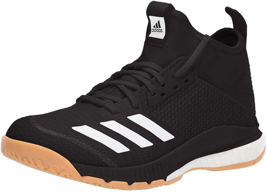 adidas Womens Crazyflight X 3 Mid Volleyball Shoe - Black/White/Gum - Size: 7