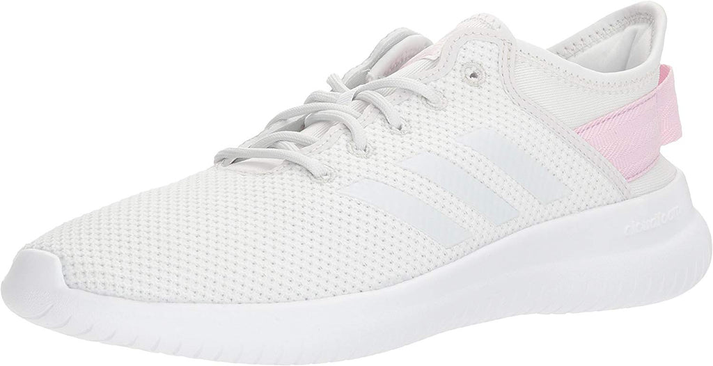 adidas NEO Womens CF Qtflex W Running Shoe - Crystal White/Crystal White/Aero Pink - Size: 6
