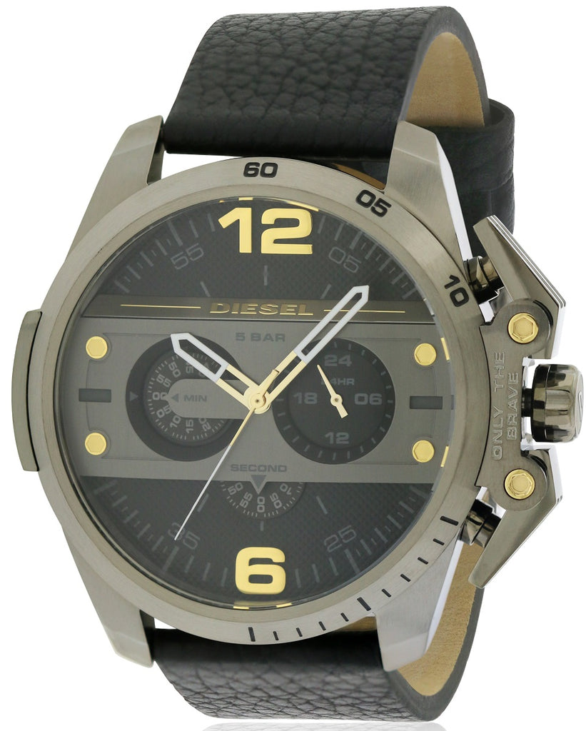 Diesel Ironside Leather Chronograph Mens Watch