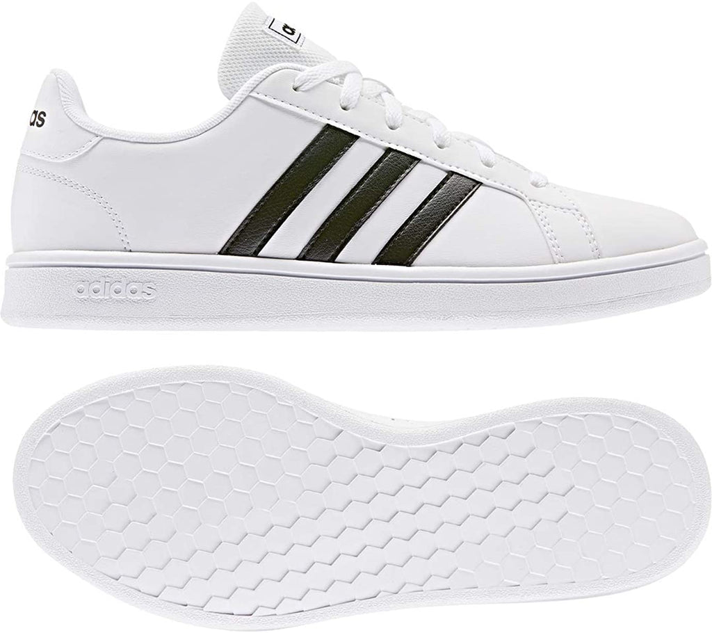 aadidas Womens Grand Court Base Tennis Shoes Sneakers - White/Black - 8