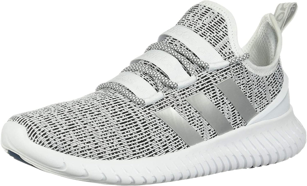 adidas Mens Kaptur Running Shoe Sneaker - White/Grey/Black - 9