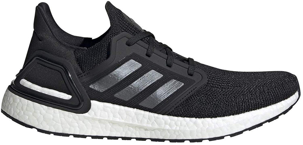 adidas Mens Ultraboost 20 Sneaker - Black/Night Metallic/ White - 14