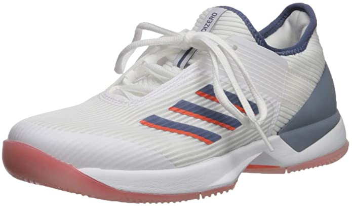 adidas Womens Adizero Ubersonic 3 Tennis Shoes - White/tech Ink/True Orange - 9.5