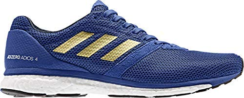 adidas Mens Adizero Adios 4 Running Shoe - Royal/Gold Metallic/Collegiate Navy - Size: 9