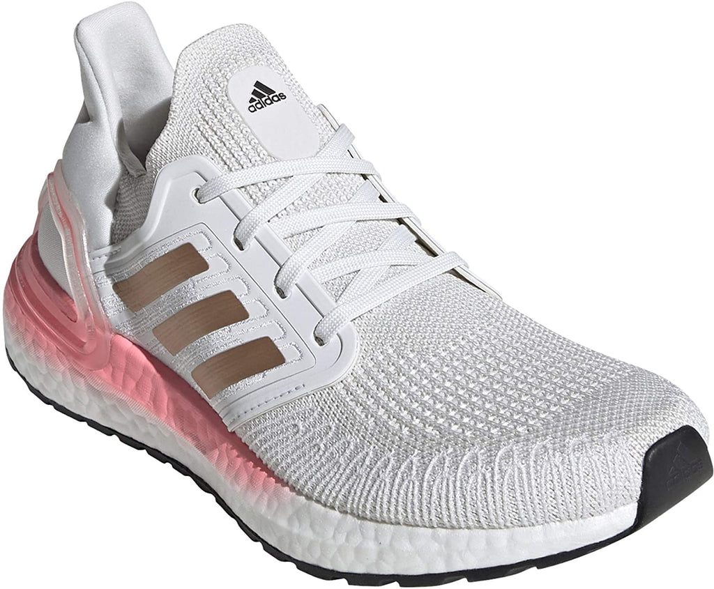 adidas Womens Ultraboost 20 W Sneaker - Crystal White/Copper Metallic/Light Red - 6