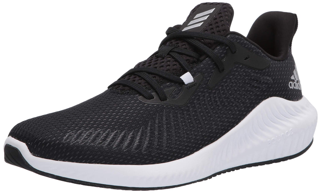 adidas Mens Alphabounce Running Shoe - Core Black/Silver Met/Core Black - 10
