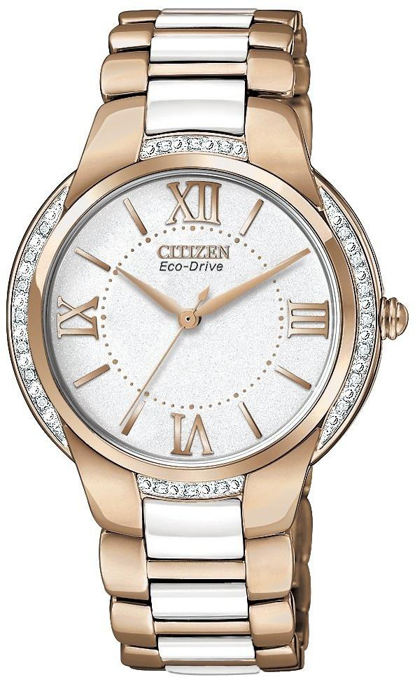 Citizen Eco-Drive Ciena Ceramic Diamond Ladies Watch EM0173-51A