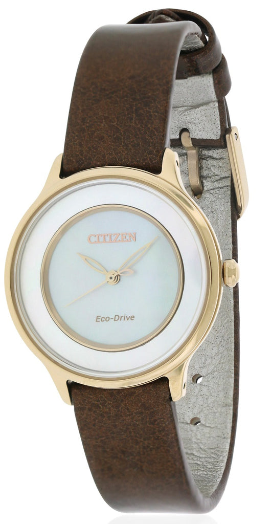 Citizen Eco-Drive Circle of Time Leather Ladies Watch