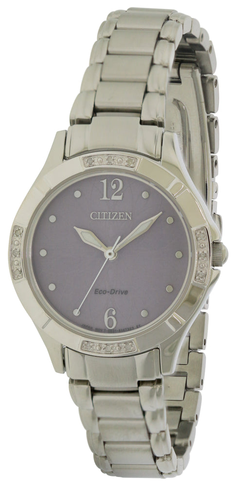 Citizen Eco-Drive Diamond Stainless Steel Ladies Watch