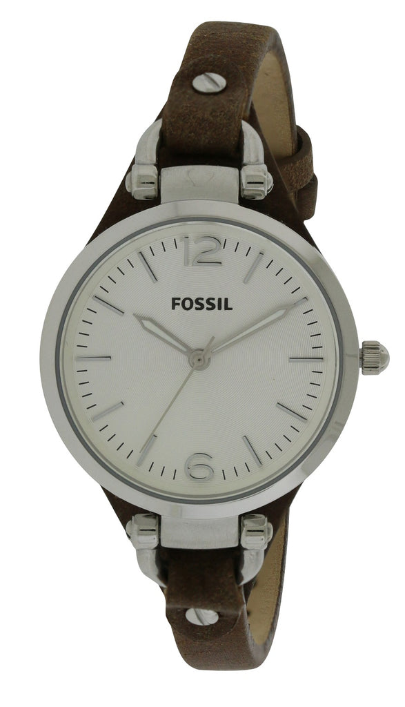 Fossil Georgia Brown Leather Ladies Watch