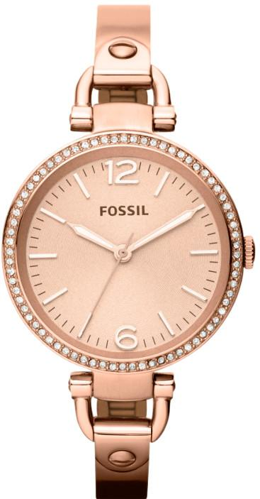 Fossil Georgia Rose Gold-Tone Bangle Ladies Watch