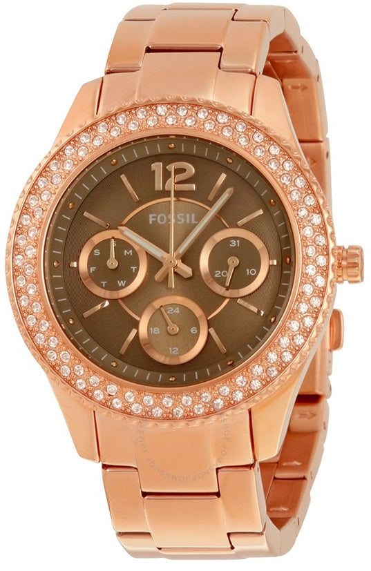 Fossil (Open Box) Stella Rose Gold-Tone Ladies Watch ES3863