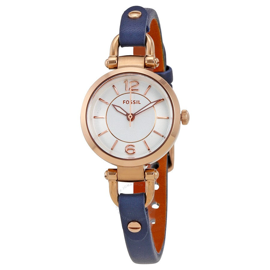 Fossil Georgia Mini Indigo Leather Ladies Watch