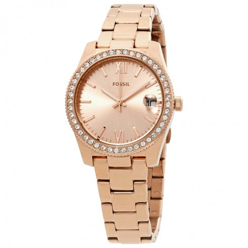Fossil Scarlette Rose Gold-Tone Stainless Steel Ladies Watch