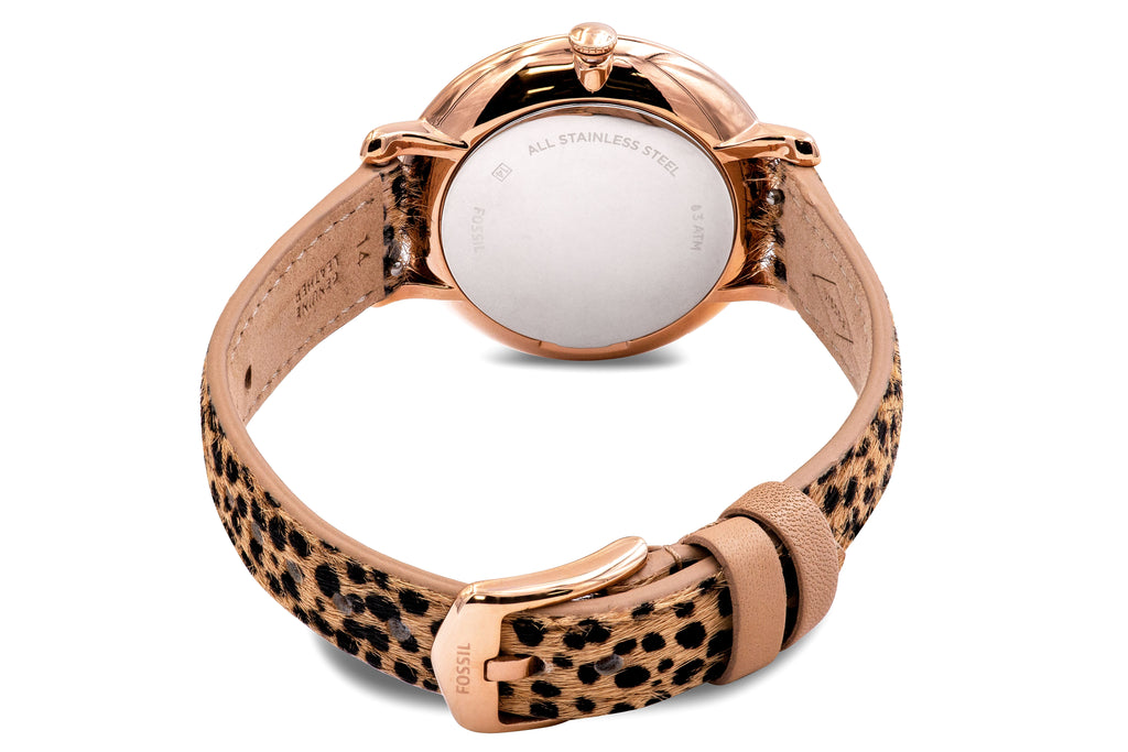 Fossil Jacqueline Faux Cheetah Hair Leather Ladies Watch