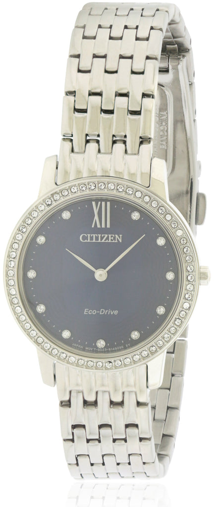Citizen Eco-Drive Silhouette Crystal Stainless Steel Ladies Watch