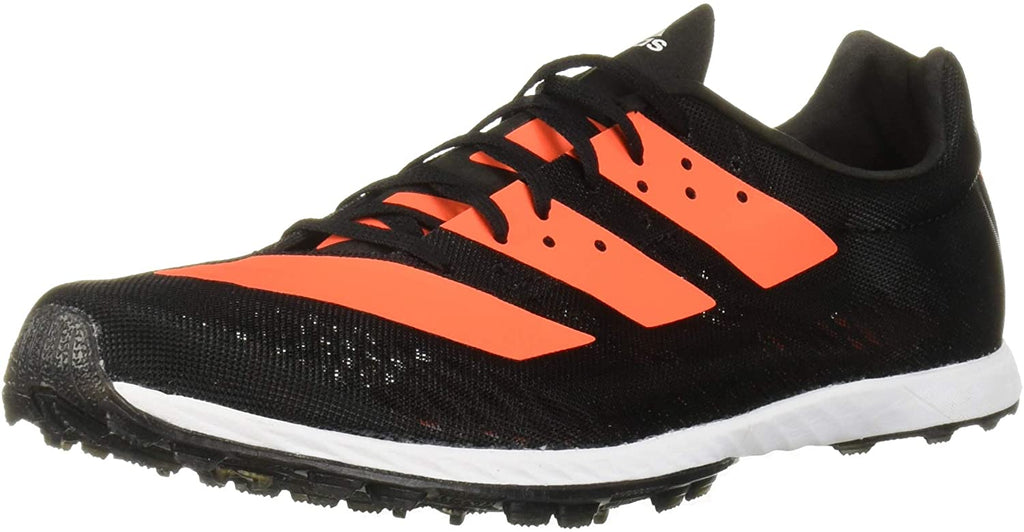 adidas Womens Adizero XC Sprint Running Shoes - Black/Solar Orange/White - 6.5