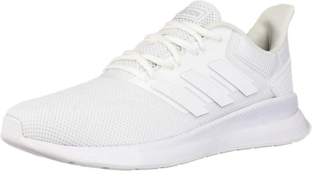 adidas Womens Falcon Running Shoe - White/White/Black, - Size: 7