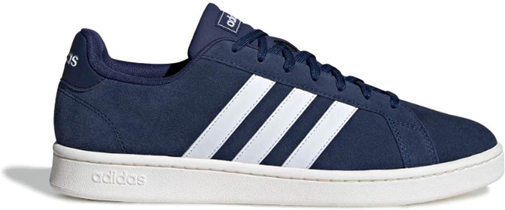 adidas Mens Grand Court Sneaker - Dark Blue Cloud White - Size: 9