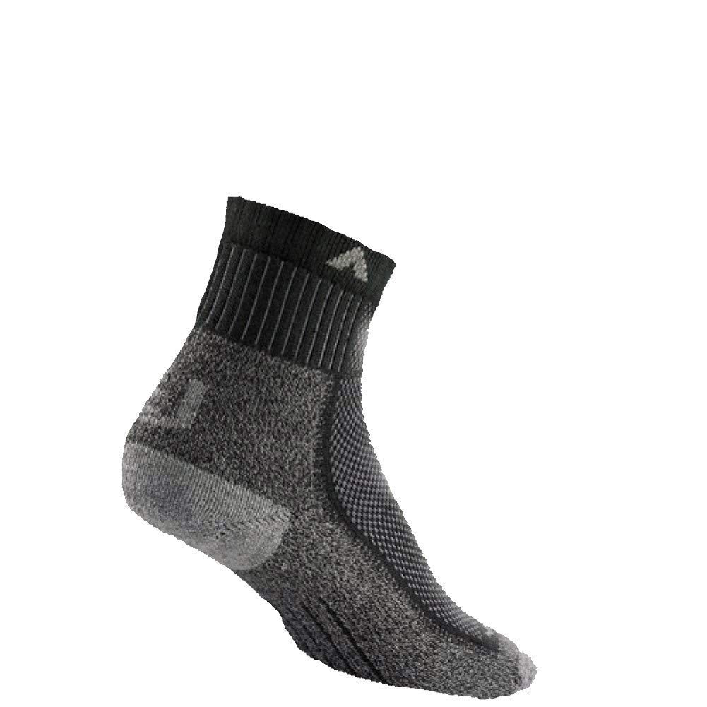 Wigwam Mens Cool-Lite Mid Hiker Pro Quarter Length Socks - Black/Gray - LG
