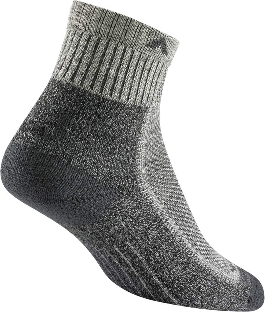 Wigwam Mens Cool-Lite Mid Hiker Pro Quarter Length Socks - Grey/Charcoal - MD