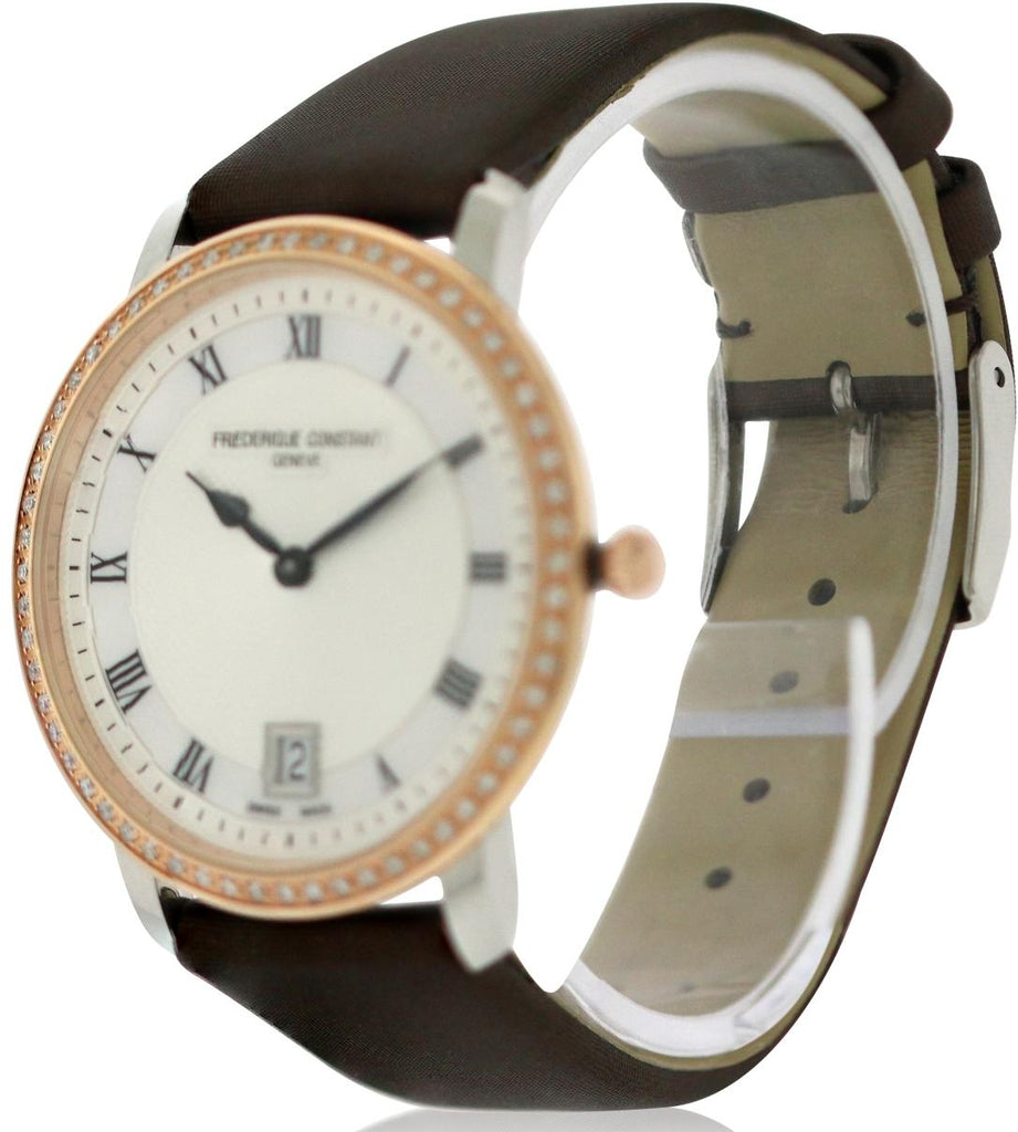 Frederique Constant Slim Line Satin Ladies Watch
