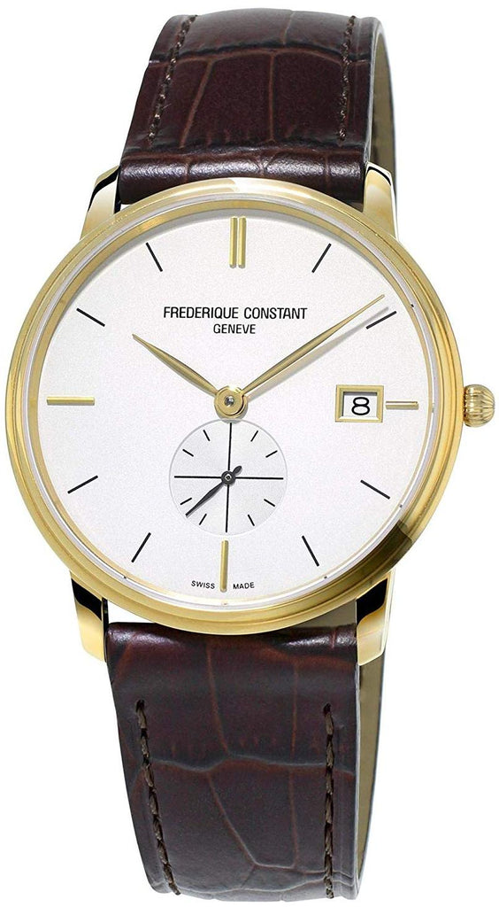 Frederique Constant Slimline Leather Mens Watch
