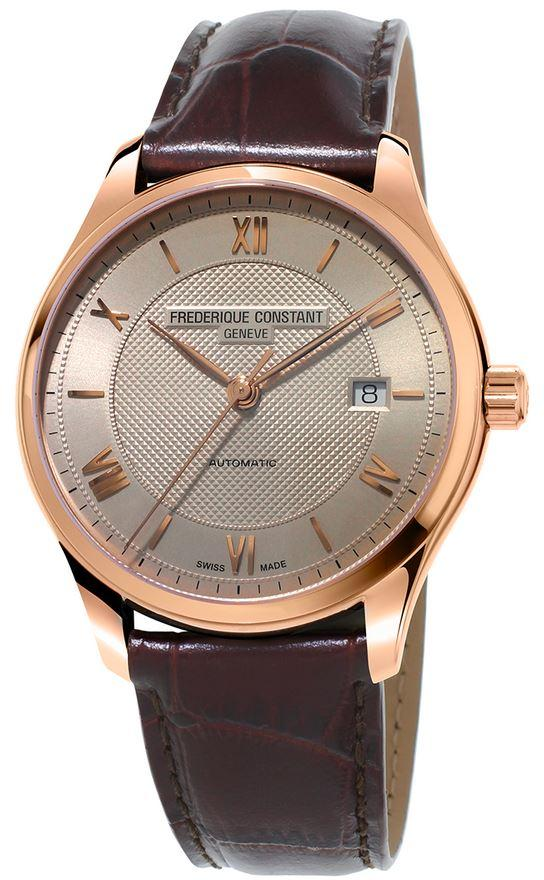 Frederique Constant Classics Automatic Leather Mens Watch