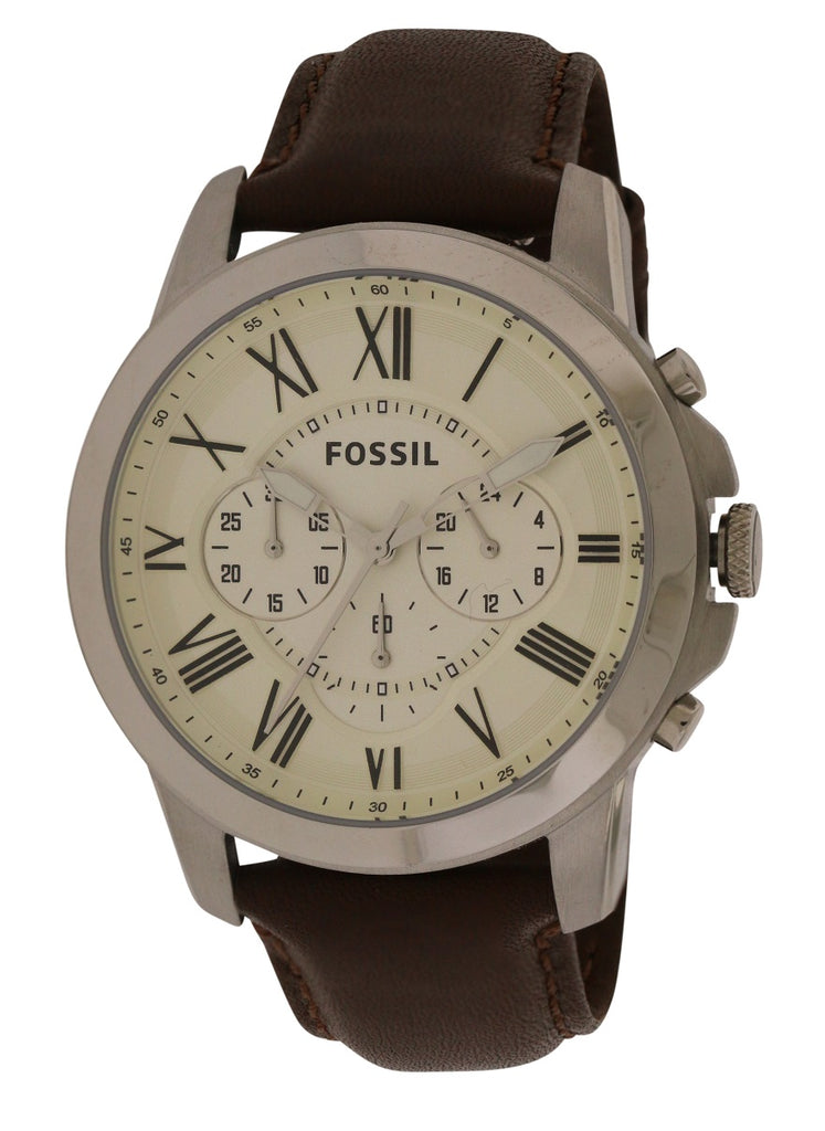 Fossil Grant Chronograph Leather Mens Watch