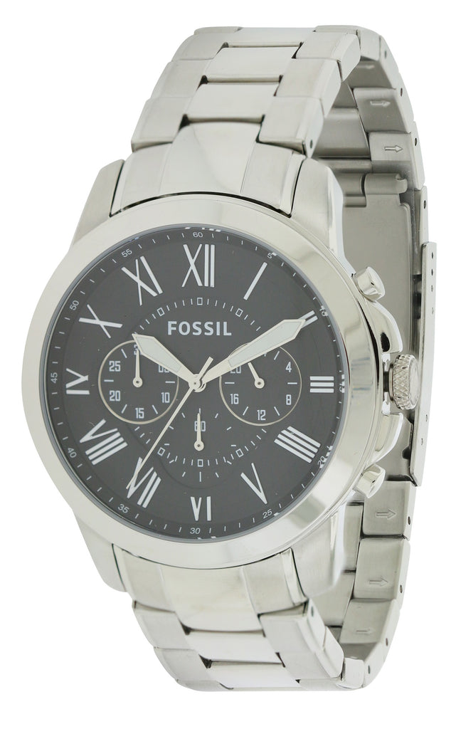 Fossil Grant Stainless Steel Chronograph Mens Watch