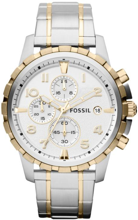 Fossil Dean Two-Tone Chronograph Mens Watch