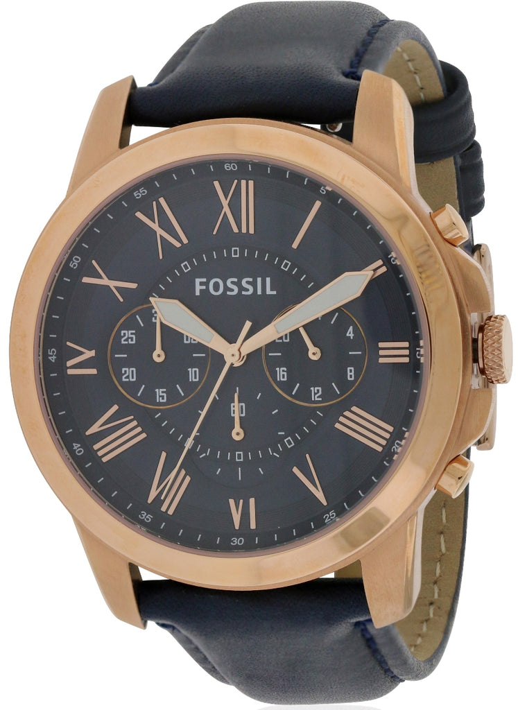 Fossil Grant Leather Chronograph Mens Watch